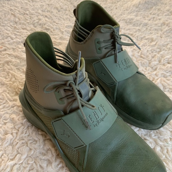 best loved 2e25f 77a8a Fenty x Puma Rihanna Green Trainer High Shoes